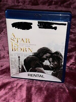 "Movie - ""A Star Is Born"" (Blu-Ray Disc 2018) Rated ""R"" Lady Gaga Bradley Cooper"