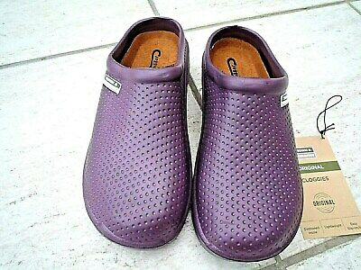 NEW Town & Country purple lightweight patterned CLOGGIES--Size 6 UK adult.
