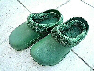 NEW Town & Country Eva green lightweight fleecy CLOGGIES--Size 5 UK adult.