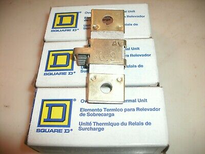 Lot Of 3 - Square D B6.90 Overload Relay Thermal Unit Heater