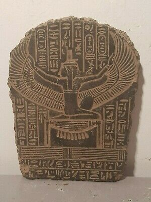 Rare Antique Ancient Egyptian Stela God Isis Good Health Cure ill 1650-1580BC