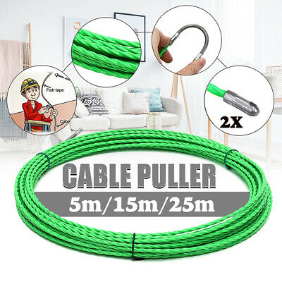 4Mm 5M/15M/25M Electrical Wire Cable Puller Duct Pom Fish Tape Guide Device New