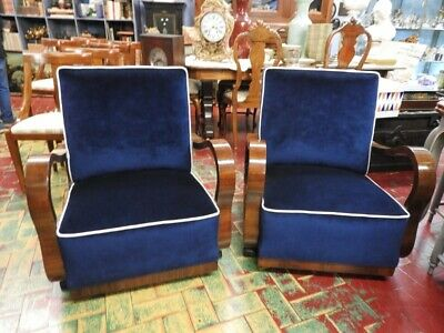 Pair of Splendid Original Ancient Armchairs Art Deco' Years 30 40 About
