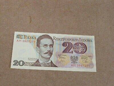Banknote (uncirculated condition) Poland 20 1982