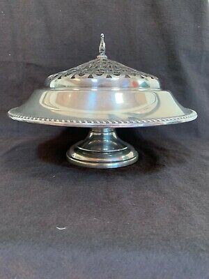 """Preisner sterling silver 495 gram centerpiece bowl with plated frog 11"""" wide"""