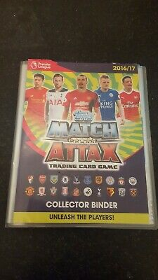 TOPPS MATCH ATTAX 2016/17 BINDER AND 90 cards maybe abit more all great condtion