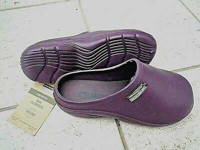 NEW Town & Country dark purple lightweight CLOGS--Size 8 UK adult.