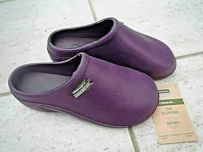 NEW Town & Country dark purple lightweight CLOGS--Size 4 UK adult.