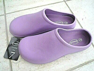 NEW Burwood lilac garden CLOGS -Size 7 UK - Made by Briers.