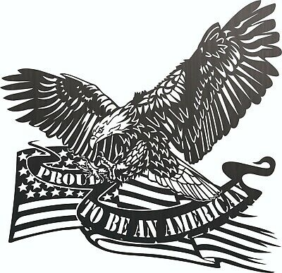 USA Flag Eagle DXF Sign for Plasma Laser Waterjet Router Plotter Cut Ready