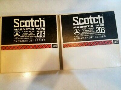 "2 Used Scotch 3M Magnetic Tape 203 1/4""x1800'"