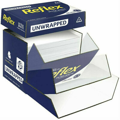 Reflex A4 Copy Paper Ultra White Home Office 80Gsm 2500 Sheets Unwrapped Box