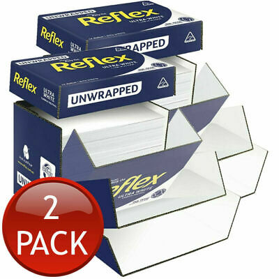 2 x REFLEX A4 COPY PAPER ULTRA WHITE HOME OFFICE 80GSM 2500 SHEETS UNWRAPPED