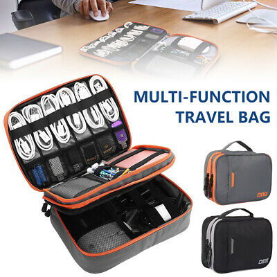 Travel Digital Electronic Accessories Case Cable USB Drive Insert Organizer Bag