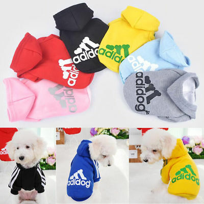 Cute Adidog Hoodies Female/Male Small Dogs Outfits Apparel Dog Clothes Warm USA!