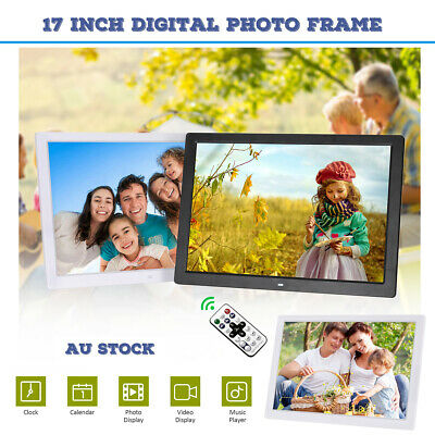 17 inch LED Digital Photo Picture Frame Movie Player Video Remote Control V6Y9