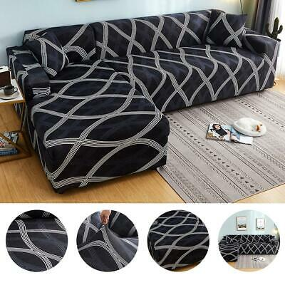 L Shape Elastic Couch Cover Stretch Fabric Corner Sofa Cover Sectional Protect