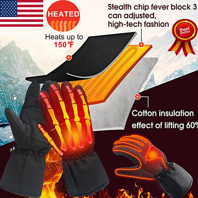 Winter Men Unisex Heated Gloves Warm USB Thermal Hand Outdoor Camping Hiking