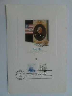 Stamp Mart : Usa Pacificator Henry Clay Washington Dc Cancel Souvenir Card 1983