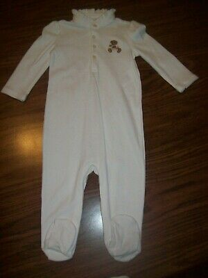 Baby Girls RALPH LAUREN Sleeper / Outfit  - Size 9 Months - New NWT - WHITE