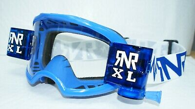 Rip N Roll RNR Colossus XL Roll Off Motocross Goggle Blue with 36mm roll off