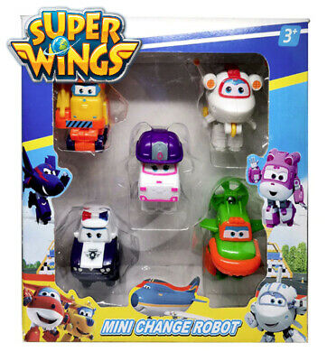 Super Wings 5 Und Lote Mini Planes Avion Jett Dizzy Donnie Jerome Gift Toys Xmas
