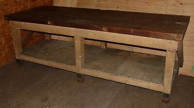 Super Vintage Antique Wood Table Legs Workbench Kitchen Island Caraccident5 Cool Chair Designs And Ideas Caraccident5Info
