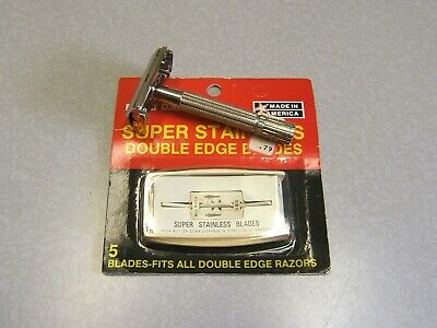 Gillette Cavalcade of Sports TV Special Double Edge Safety Razor  D-2 1958