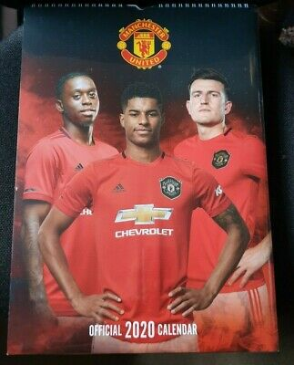 Official MANCHESTER UNITED FC Calendar 2020 Man Utd Football Christmas Gift NEW