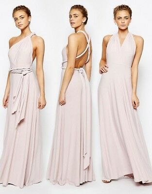 **REDUCED TO SELL**Coast Multiwear Maxi Occassion Dress Blush Size 12