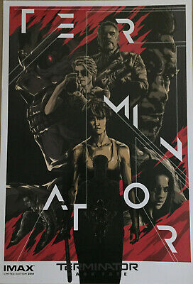 "Terminator Dark Fate Movie 13""x19"" Limited Edition Canadian IMAX Poster PROMO"