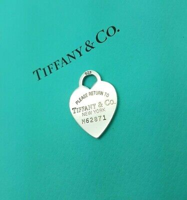 Return to Tiffany & Co Large Sterling Silver Heart Tag Pendant Charm Only