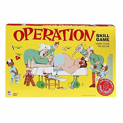 Operation Electronic Board Game With Cards Kids Skill Game Ages 6 and Up