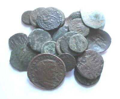 A lot of 27 x ancient Ae-coins, Greek, Roman and Byzantine