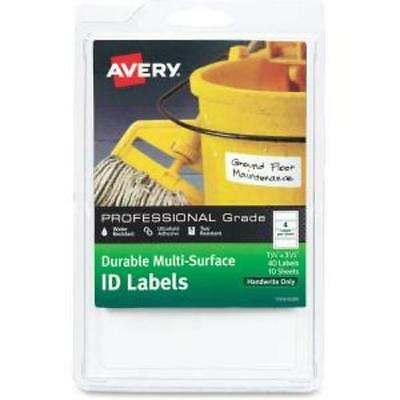 "Avery Professional-grade Id Labels - Permanent Adhesive - 40 Label[s]"" - 1.25"""