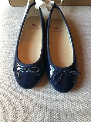 Girls Jcrew Crewcuts Navy Patent Style Slip On Dress Shoes - Size 11 - Nwt!!
