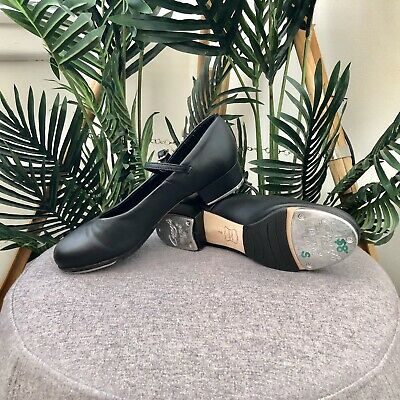 24.5cm INNERSOLE Womens Size 7 CAPEZIO Black TAP SHOES Ladies LEATHER