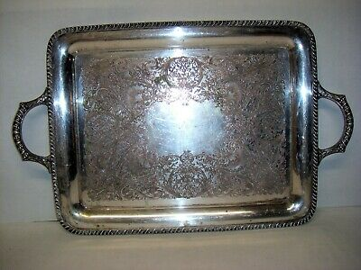 Antique Wm. ROGERS Silverplate Serving Tray #3690