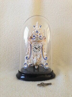 Rare Miniature Zappler Mantle Clock , Cow Tail Pendulum Clock ,
