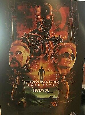 TERMINATOR DARK FATE Poster ORIGINAL Movie Promo IMAX 13x19 Limited Edition 2019