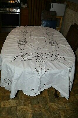Vintage Embroidery  Table Cloth