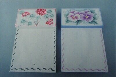 "Rosemary West  vintage tole painting pattern ""Notepads & Florals"""