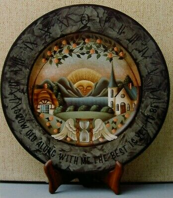 "Betty Caithness vintage tole painting pattern ""Sundial Plate"""