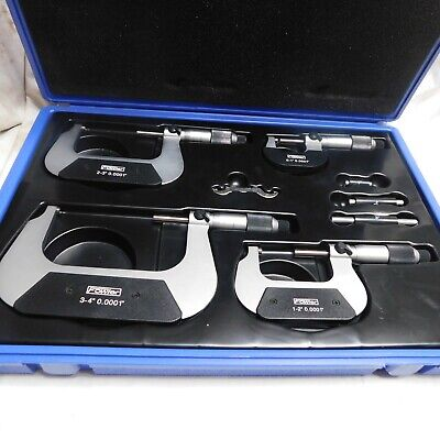 "Fowler 4 Pc. Metric Outside Micrometer Set 0-4""  #16144"