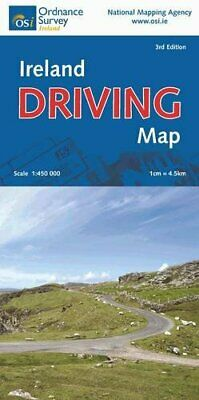 Ireland Driving Map (Irish - Maps, ... by Ordnance Survey Irel Sheet map, folded