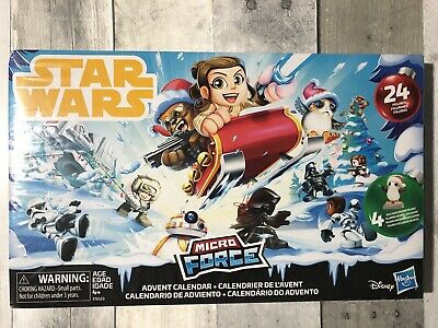 Disney Star Wars Micro Force Advent Calendar- 24 Figures - 2018