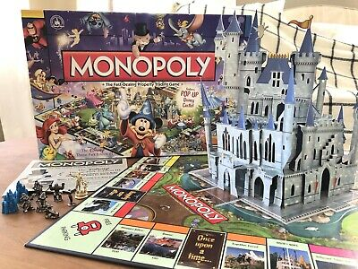 Disney Parks Monopoly Theme Park Edition 3 With Pop-Up Castle Board Game