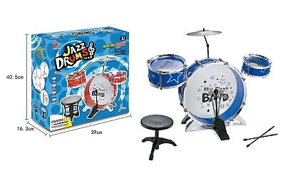 Brand new Children's Drum Set Kit – Musical Instrument Toy for Kids – Red / Blue