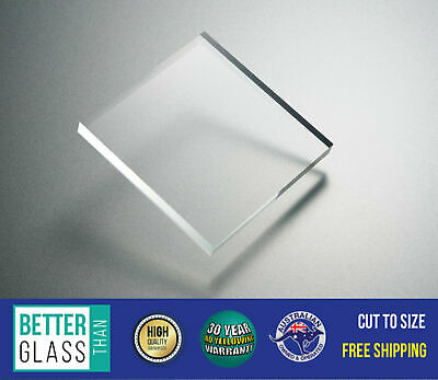 Clear Acrylic Perspex/Plexiglas - Custom Cut to Size Panels Cast PMMA UV Stable