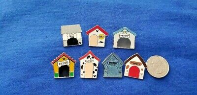 Disney Pin Doghouses Complete Set Of 7 2019 DLR Hidden Mickey Wave C